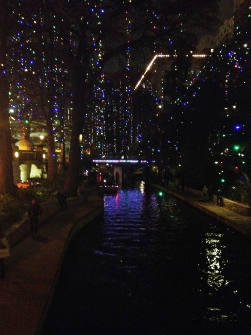 river walk at night