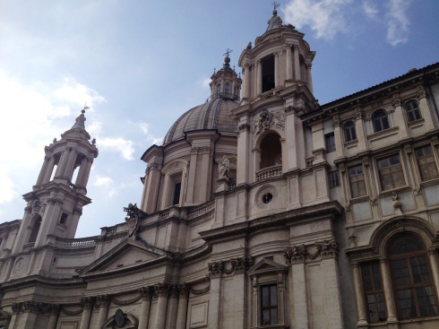 The church of Sant'Agnese in Agone at Piazza Navona in Rome | www.the-wild-child.com