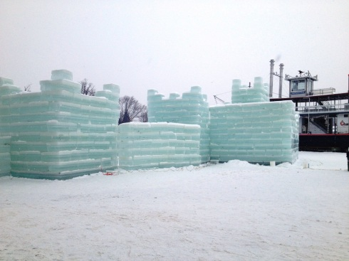 Ice castle on Lake Chautauqua | www.the-wild-child.com